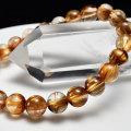 タイガールチル ゴールドルチル パワーストーン ブレスレット 数珠 天然石 金運 商売繁盛