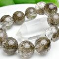 シルバールチル ルチルクォーツ 大玉 ブレスレット 数珠 アップストーン オンビル 天然石 パワーストーン