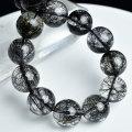 ブラックルチル ルチルクォーツ 黒針水晶 ブレスレット 数珠 天然石 パワーストーン