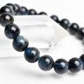 ディープアクアマリン ミッドナイトアクアマリン ブラックベリル ブレスレット 数珠 3月誕生石 天然石 パワーストーン