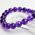 アメジスト ウルグアイ産 ブレスレット 紫水晶 数珠 天然石 パワーストーン
