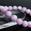 クンツァイト ミルキークンツァイト リチア輝石 ブラジル産 ブレスレット 数珠 恋愛運 天然石 パワーストーン