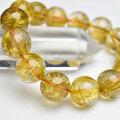 ゴールドルチル ルチルクォーツ 金針水晶 ブレスレット 天然石 パワーストーン 数珠 金運