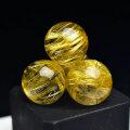 ゴールドルチル ルチルクォーツ 大玉 大珠 粒売り バラ売り ビーズ 15mm 天然石 パワーストーン