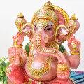 ガネーシャ インドの神様 ローズクォーツ ピンクの象 置物 天然石 パワーストーン