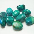 クリソコラ 珪孔雀石 タンブル ポリッシュ 磨き石 オンビル 天然石 アップストーン