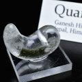 勾玉 ヒマラヤ水晶 ガネーシュヒマール産 ネパール クローライト 緑泥石 オンビル アップストーン