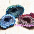 ジオード ブラジル産 カラージオード 染め dyded 水晶 晶洞 アップストーン オンビル