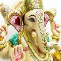 ガネーシャ 特大 アイボリーアゲート ホワイト ペイント インドの神様 置物 パワーストーン