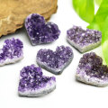 アメジスト ハート 原石 クラスター 紫水晶 2月誕生石 天然石 パワーストーン
