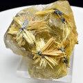 ゴールドルチル 原石 針だけ むき出し 金針水晶 標本 置物 金運 インテリア 天然石 パワーストーン