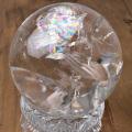 最高級品 天然水晶 特大 丸玉 虹入り水晶 レインボークォーツ ブラジル産 アレグレ 置物 天然石 パワーストーン