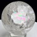天然水晶丸玉 置物 ブラジル ノーヴォオリゾンテ レインボー 虹入り 天然石 パワーストーン 浄化