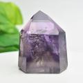 アメジストファントム アメジスト ポイント 六角柱 紫水晶 天然石 46月誕生石 置物 パワーストーン