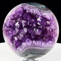 アメジスト丸玉 アメジスト 紫水晶 笑口 丸玉 カペーラ 開運 風水 浄化 玄関 インテリア 天然石 パワーストーン
