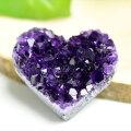 アメジスト ハート クラスター 原石 置物 紫水晶 天然石 パワーストーン