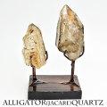 アリゲータークォーツ ジャカレー水晶 エレスチャル 原石 ブラジル産 スモーキークォーツ 天然石 パワーストーン