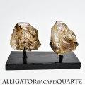 アリゲータークォーツ ジャカレー水晶 エレスチャル ブラジル産 置物 クラスター アップストーンオンビル