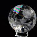 天然水晶 丸玉 スフィア 置物 原石 レインボー 虹入り ブラジル 風水 開運 魔除け パワーストーン