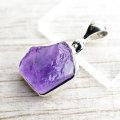 アメジスト ペンダント 原石 2月誕生石 プレゼント ネックレス 紫水晶 天然石 パワーストーン