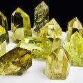シトリン 黄水晶 原石 ポイント 天然シトリン 非加熱 レインボー 置物 天然石 パワーストーン
