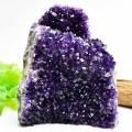 アメジスト 紫水晶 ウルグアイ産 原石 浄化 置物 インテリア カットベース 天然石 パワーストーン
