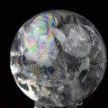 レインボー水晶 丸玉 天然水晶 虹入り水晶 置物 インテリア アップストーンオンビル