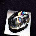 レインボー水晶 タンブル 磨き石 ポリッシュ 虹入り水晶 天然水晶 オンビル 天然石 アップストーン