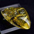 ゴールドルチル 金針水晶 ルチルクォーツ タイチンルチル ルース タンブル 天然石 パワーストーン