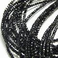 ブラックスピネル AAAA アクセサリーパーツ 連売り【一連約40cm】【約2.5mm珠】スピネル|ブラックスピネル|天然石|パワーストーン|連|連販売