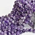シェブロンアメジスト 紫水晶 縞模様 連 ビーズ 素材 天然石 パワーストーン アップストーンオンビル