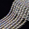 オーロラクォーツ コスモオーラ オーラクォーツ 蒸着水晶 連 ビーズ 素材 ブレスレット 天然石 パワーストーン