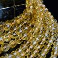 シトリン 黄水晶 スターカット 連材 連 ビーズ 素材 ブレスレット 天然石 パワーストーン