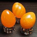 オレンジカルサイト メキシコ産 エッグ型 卵型 置物 ツーソン オンビル 天然石 パワーストーン