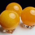 オレンジカルサイト 丸玉 高品質 台座 方解石 メキシコ産 置物 天然石 パワーストーン