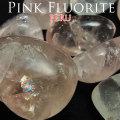 ピンクフローライト ペルー産 タンブル 置物 ポリッシュ 磨き 蛍石 オンビル 天然石 アップストーン