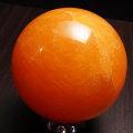 オレンジカルサイト 丸玉 置物 メキシコ産 方解石 アップストーン オンビル