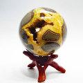 セプタリアン 丸玉 カペーラ 結晶 置物 ユタ州 アップストーン オンビル