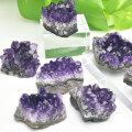 アメジスト 原石 ウルグアイ産 結晶 クラスター 置物 紫水晶 アップストーン オンビル