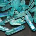 アクアオーラ 水晶 結晶 詰め合わせ 蒸着 四川産水晶 オンビル 天然石 アップストーン