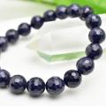 サファイア ブレスレット 数珠 134面カット 多面カット 天然石 パワーストーン