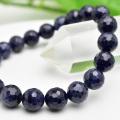 サファイア ブレスレット 数珠 141面カット 多面カット 天然石 パワーストーン