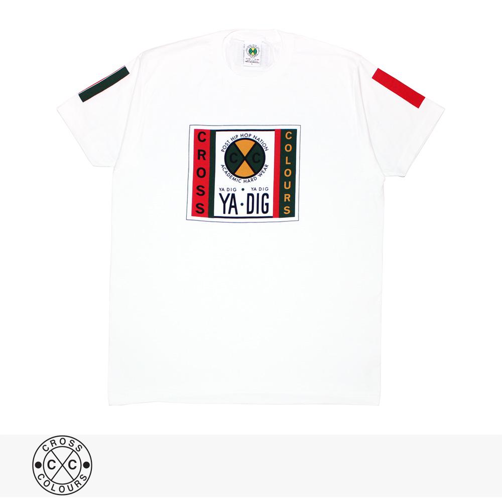 2019 S/S CROSS COLOURS LABEL LOGO T-SHIRT | WHITE / クロスカラーズ Tシャツ