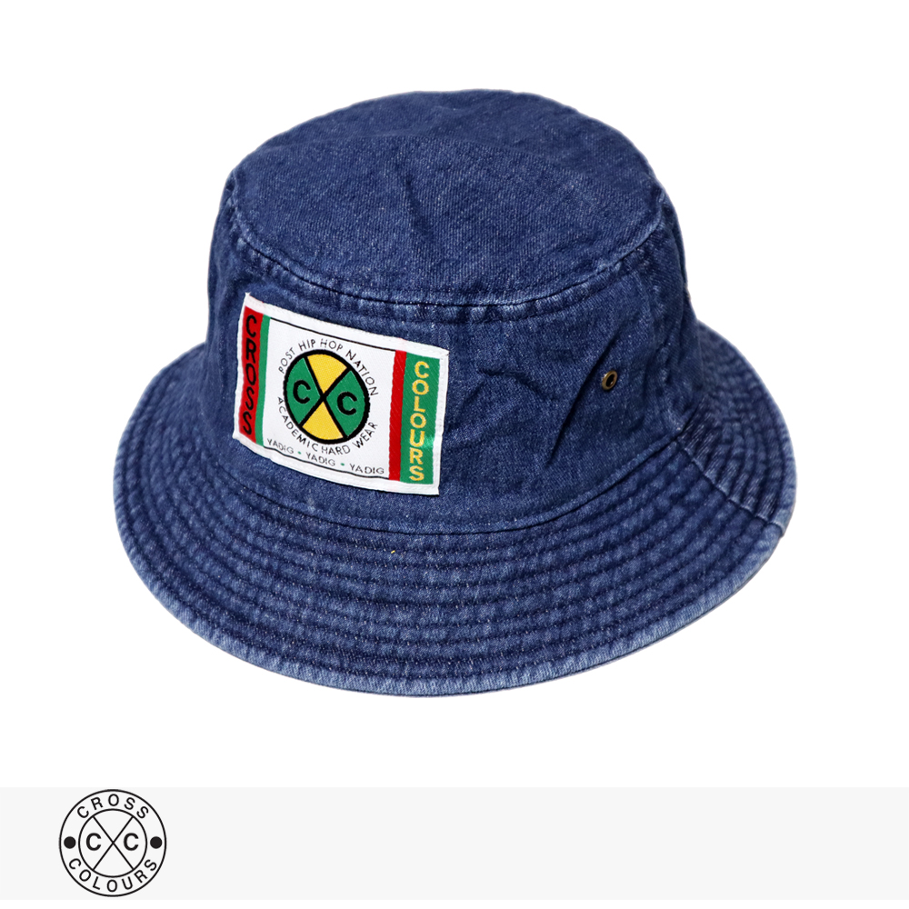 2020 F/W CROSS COLOURS LABEL LOGO DENIM BUCKET HAT | DARK BLUE / クロスカラーズ ハット