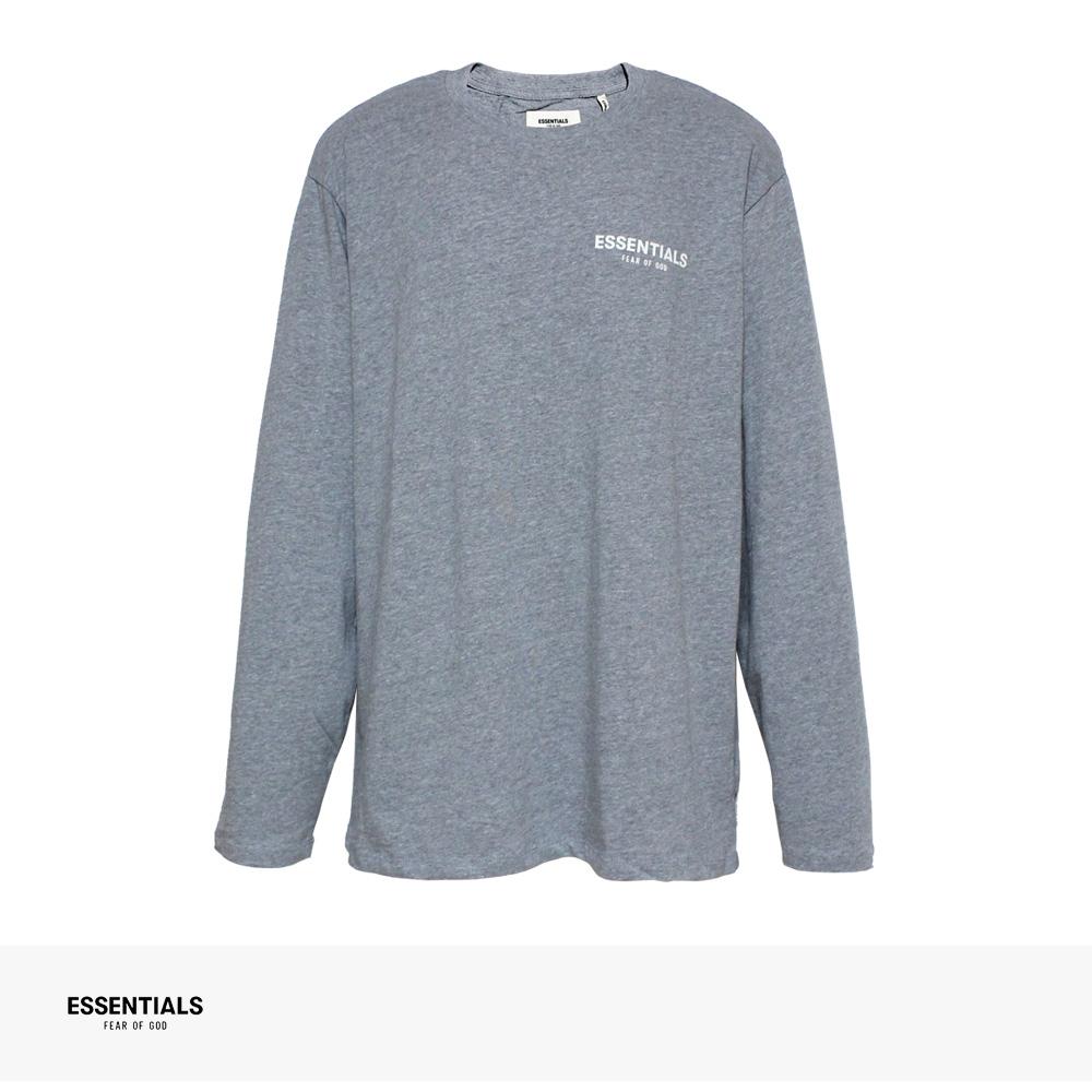 FOG ESSENTIALS BOXY LOGO LONG SLEEVE T-SHIRT | GRAY / エフオージー エッセンシャルズ Tシャツ