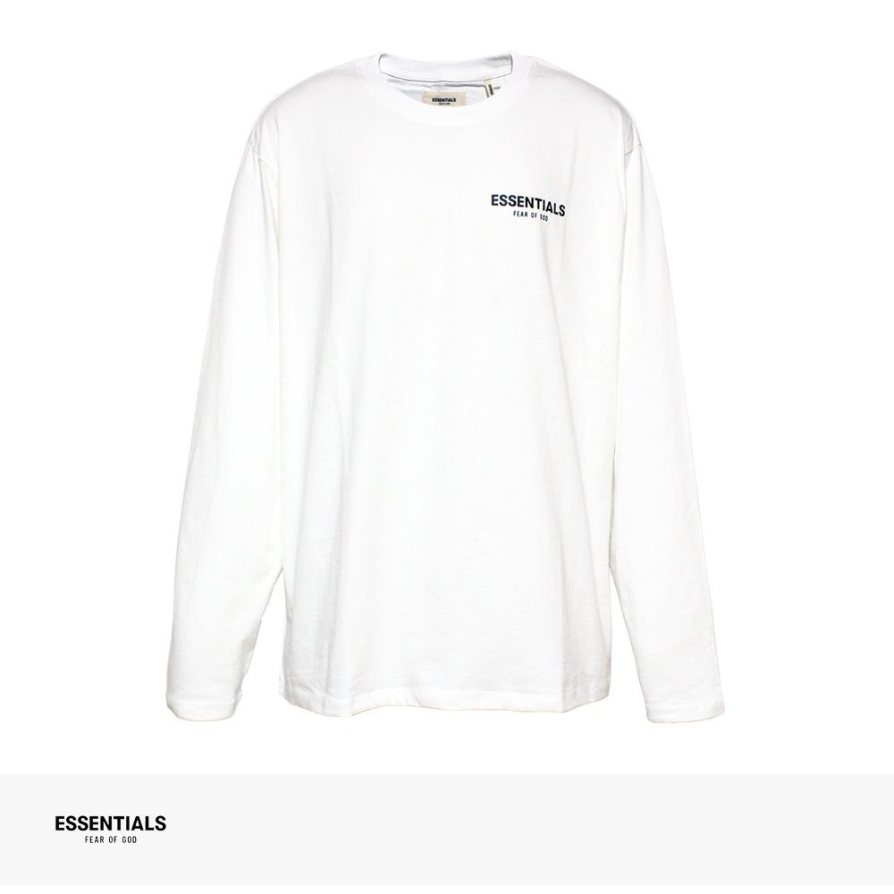 FOG ESSENTIALS BOXY LOGO LONG SLEEVE T-SHIRT | WHITE / エフオージー エッセンシャルズ Tシャツ