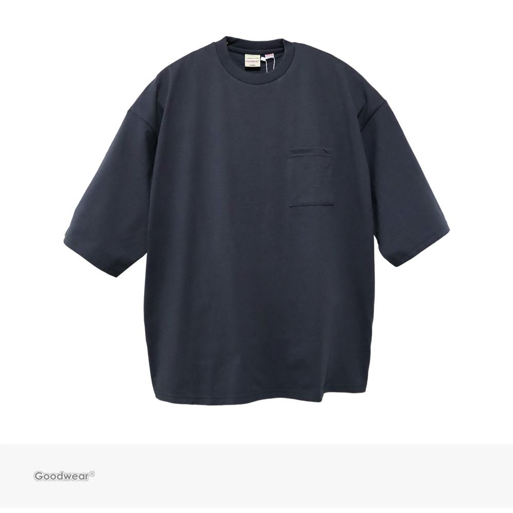 Goodwear USA COTTON SUPER BIG POCKET TEE | CHARCOAL / グッドウェア Tシャツ