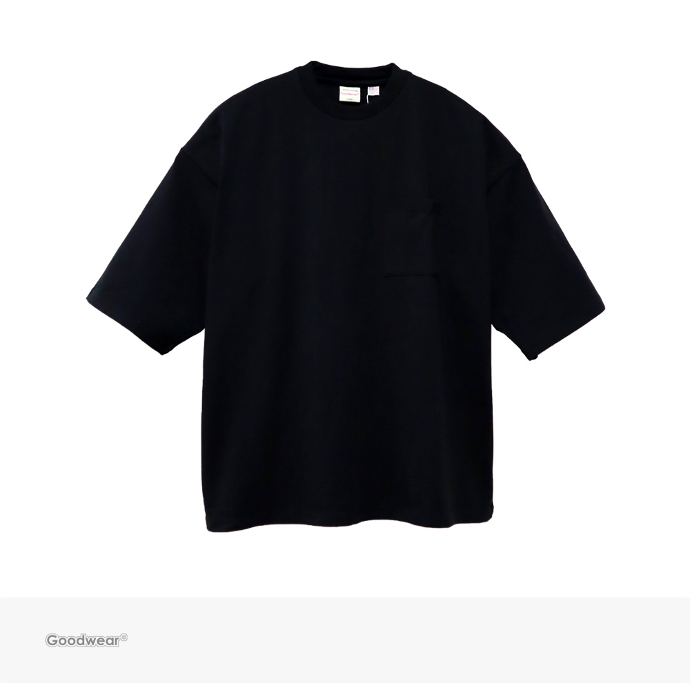 Goodwear USA COTTON SUPER BIG POCKET TEE   BLACK / グッドウェア Tシャツ
