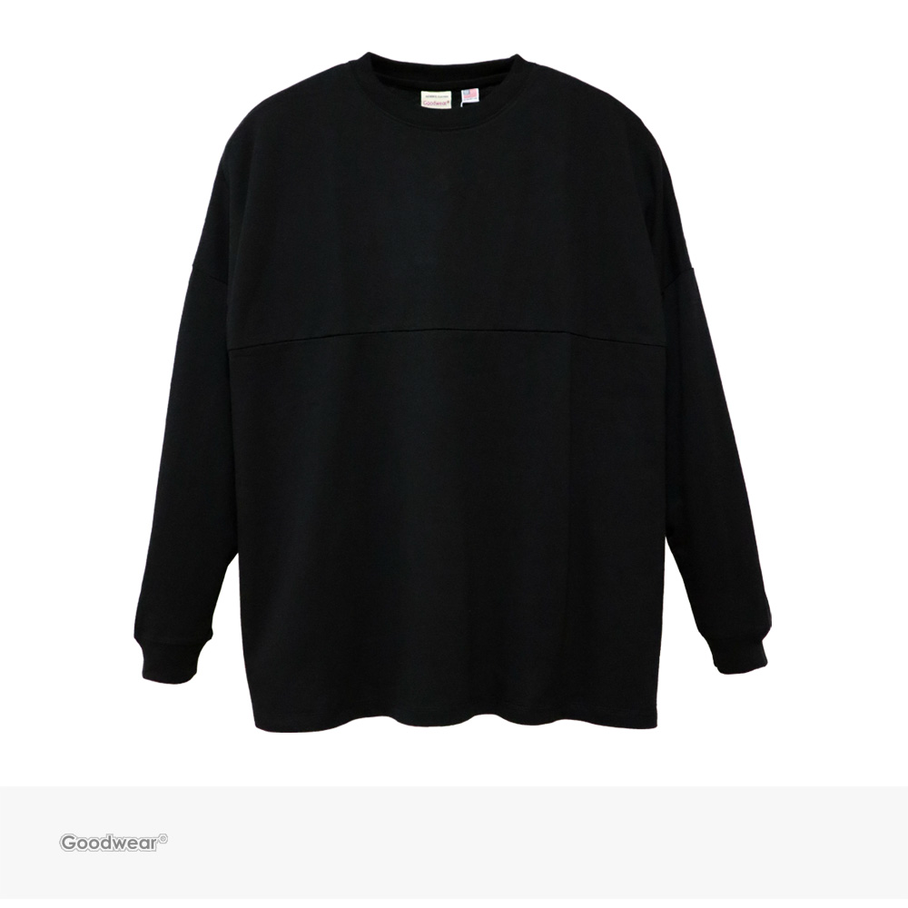 Goodwear USA COTTON FOOTBALL SUPER BIG L/S TEE | BLACK / グッドウェア Tシャツ