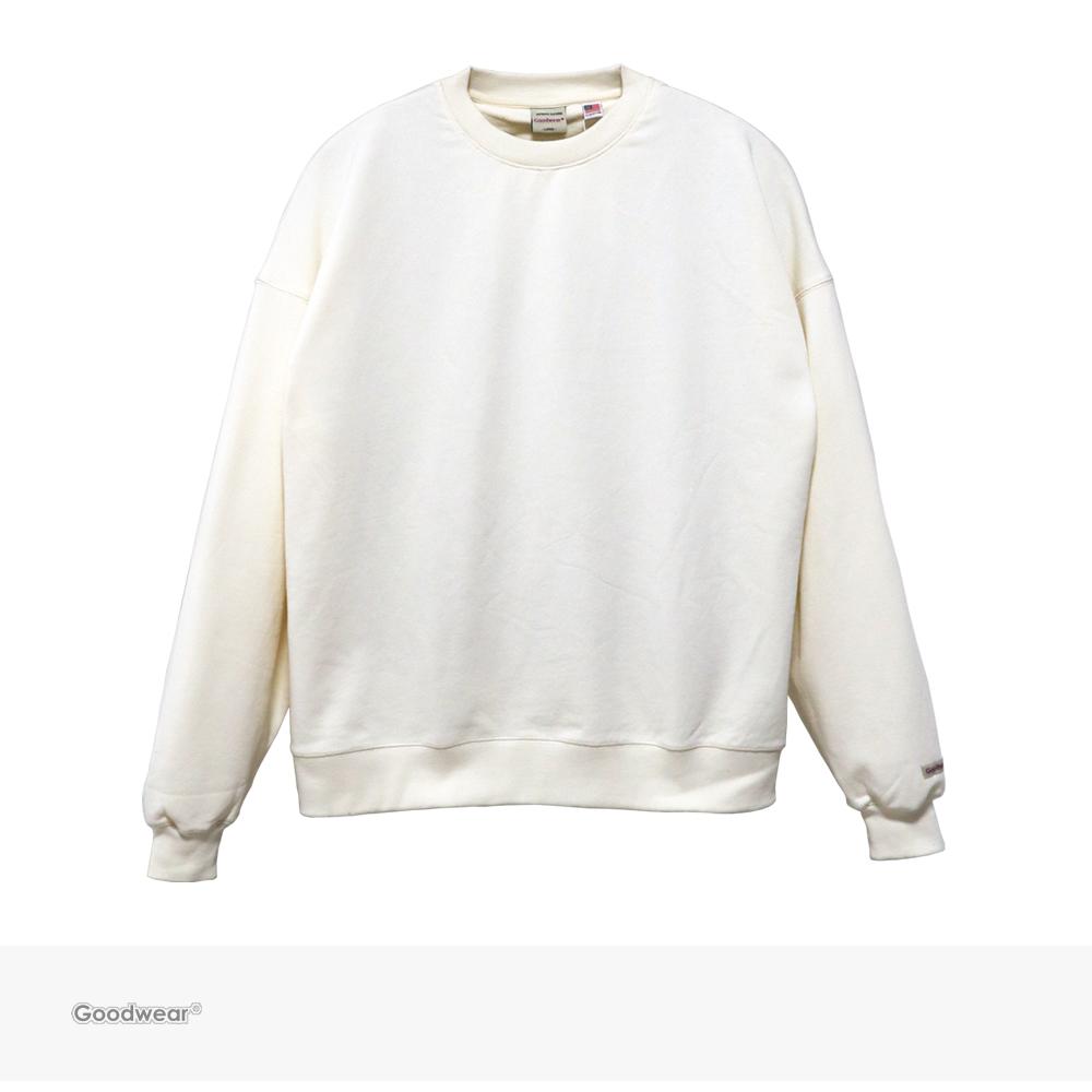 Goodwear USA COTTON BIG CREW NECK SWEATSHIRT | OFF WHITE / グッドウェア トレーナー